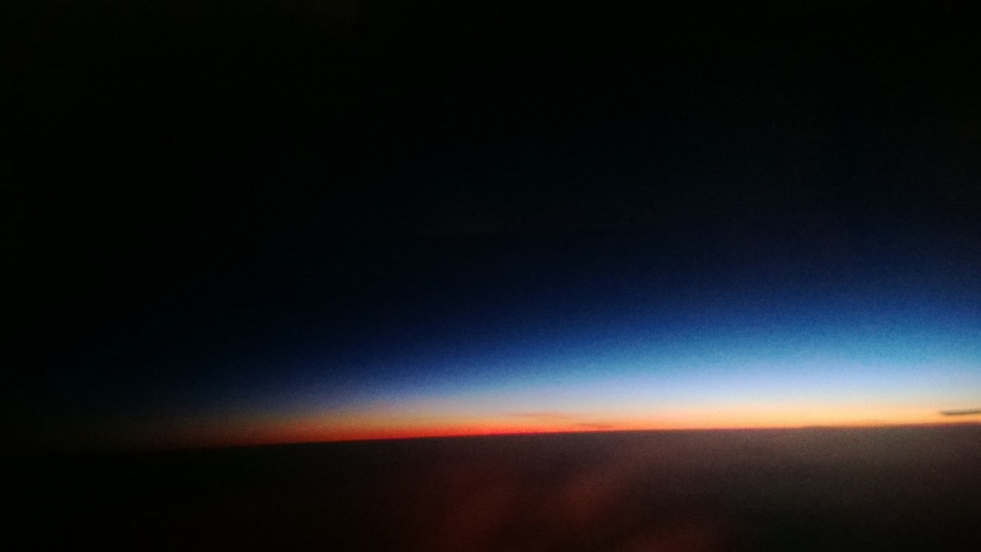 Mi primer amanecer desde el cielo.