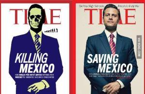 Una serie de memes surgió por cientos de usuarios como crítica a la portada de TIME sobre el presidente mexicano.
